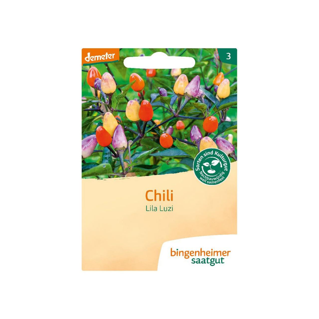 Chili - Lila Luzi Bio-Samen