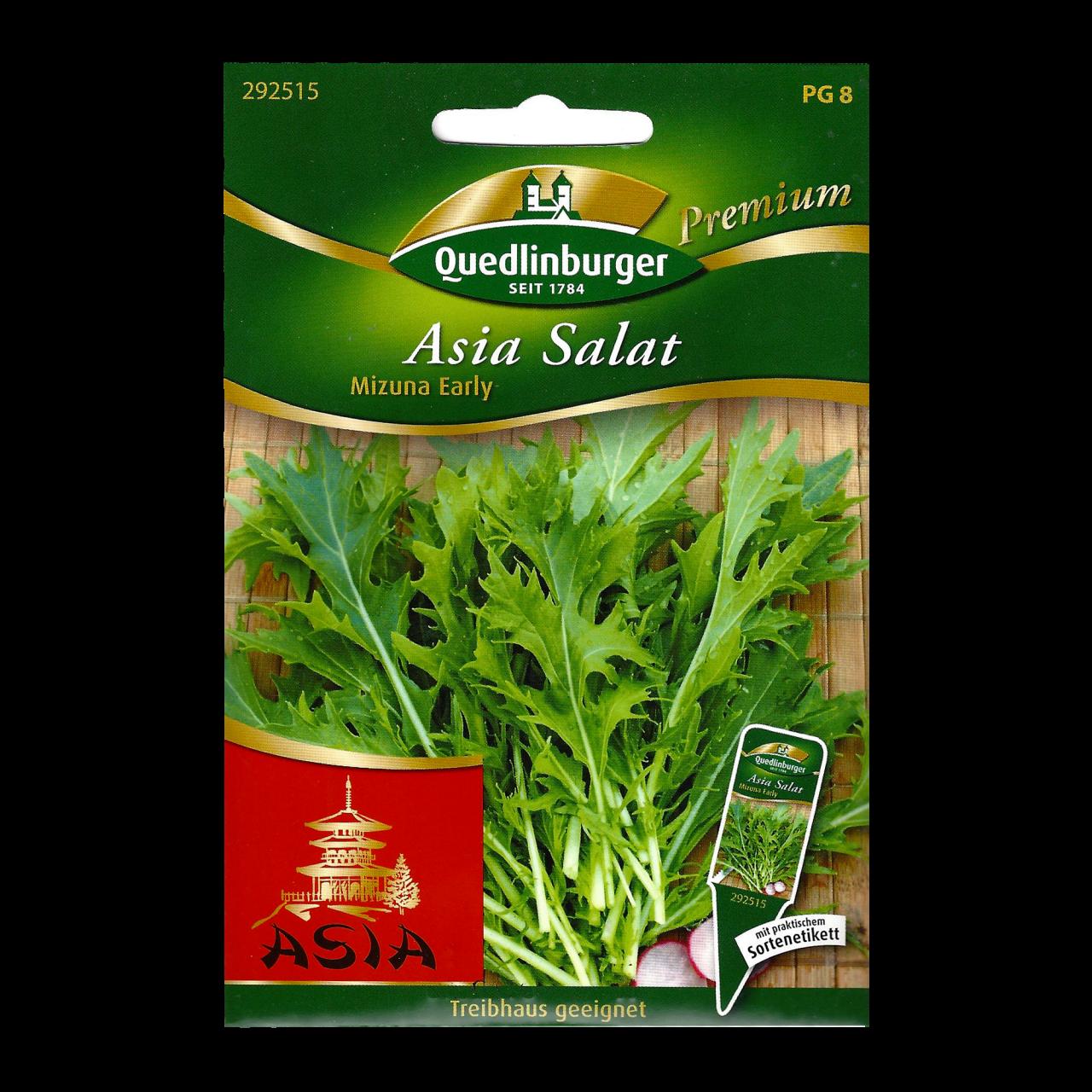 Quedlinburger Saatgut Asia Salat Premium Vorderseite