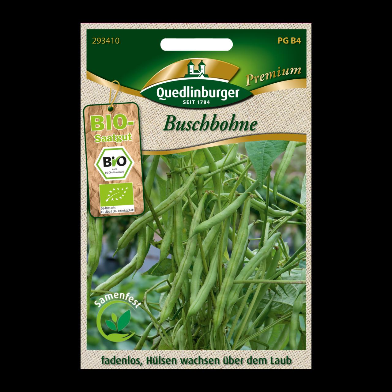 Quedlinburger Saatgut Buschbohne Vorderseite