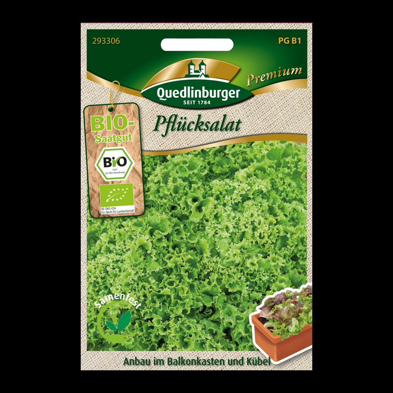 Quedlinburger Bio-Pflücksalat grün