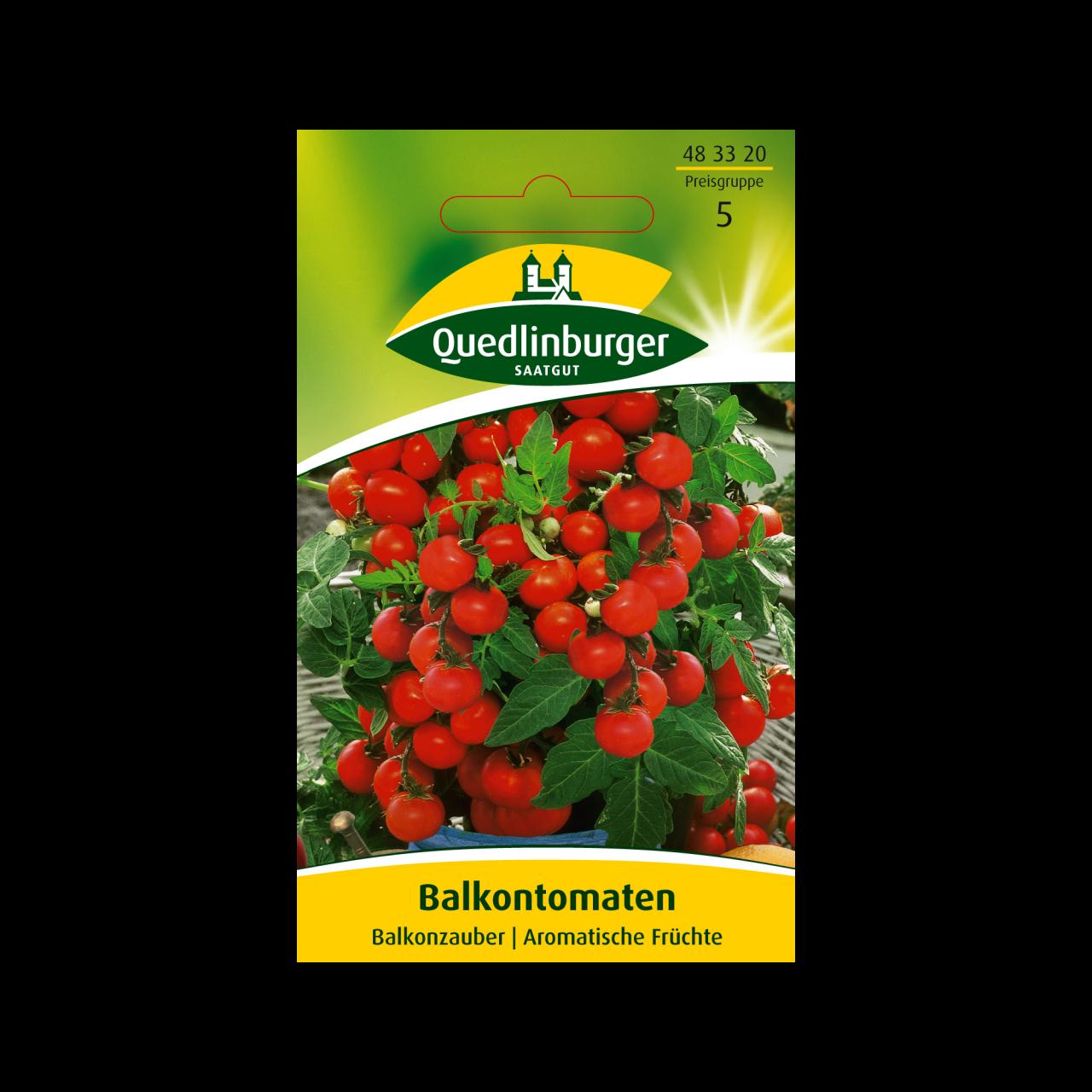 Quedlinburger Saatgut Balkontomaten Saatgut Vorderseite