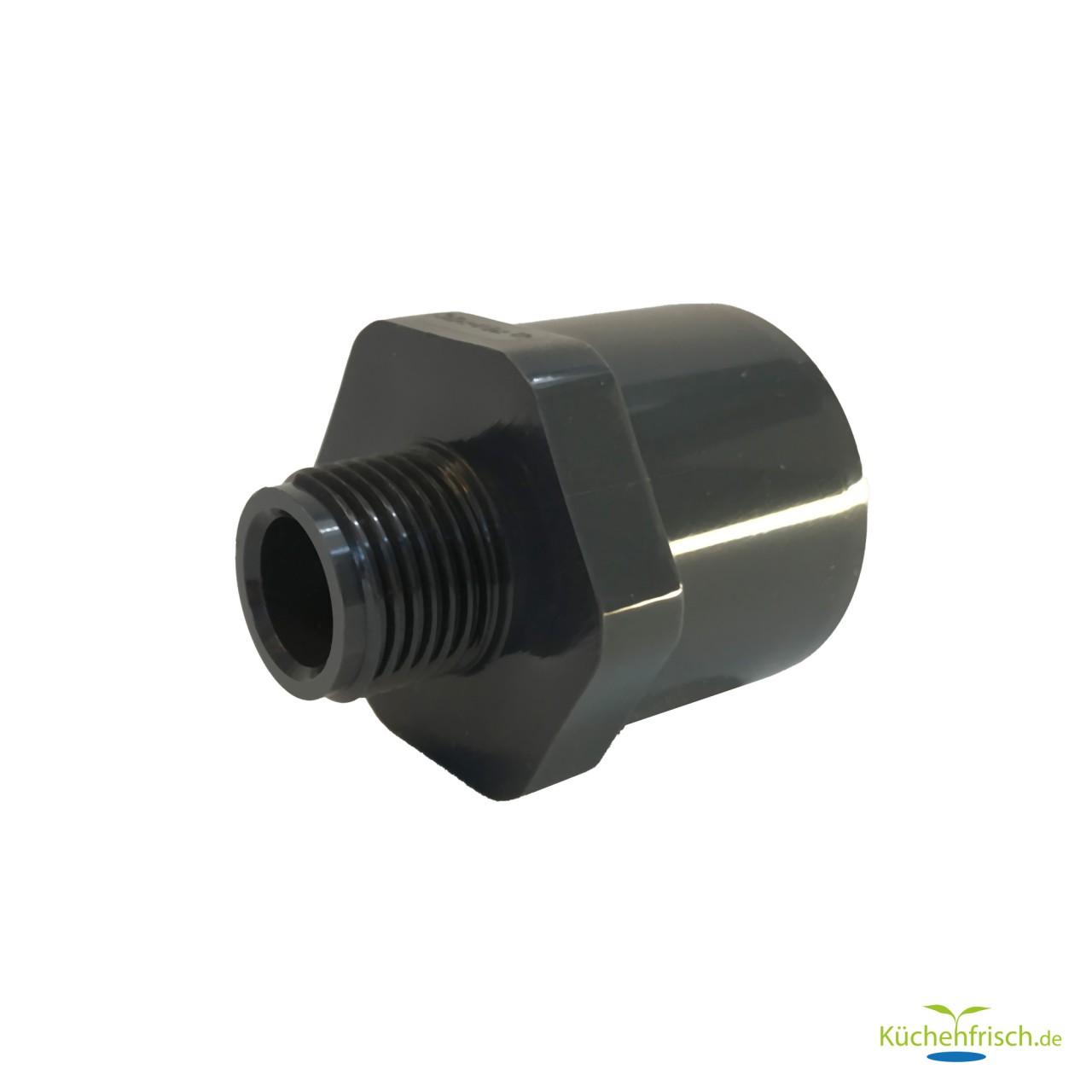 """PVC-U Übergangs- / Klebemuffe 32/40 mm mit 1/2"""" Außengewinde"""