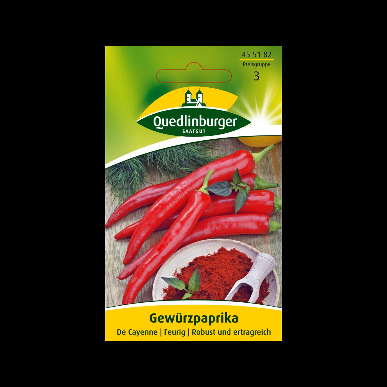 Quedlinburger Saatgut Gewürzpaprika Vorderseite