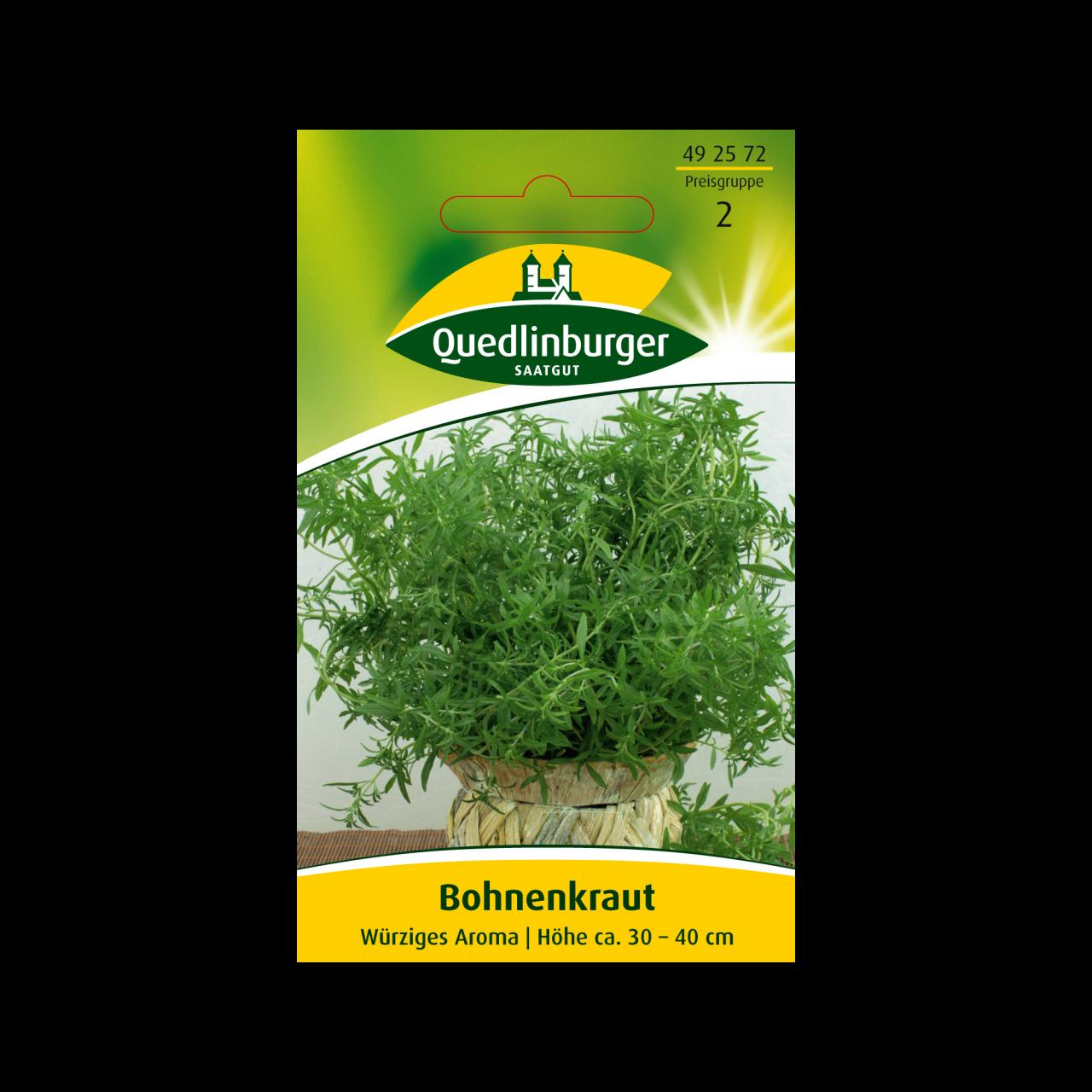 Quedlinburger Saatgut  Bohnenkraut Samen Vorderseite