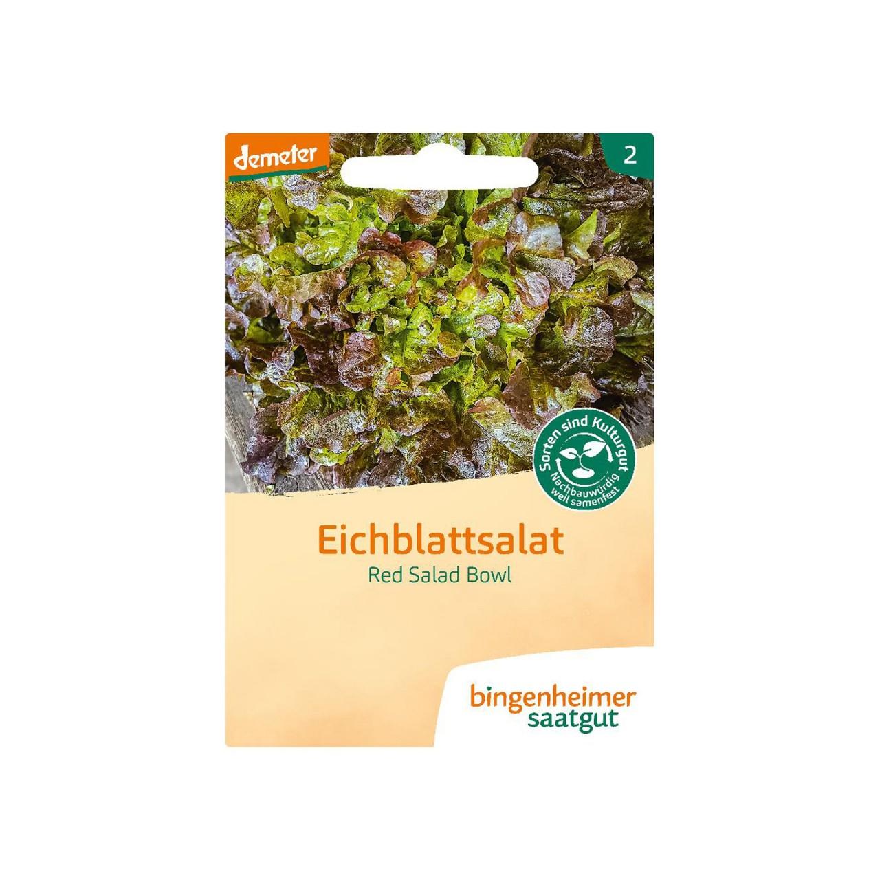 Eichblattsalat Red Salad Bowl - Bio-Saatgut