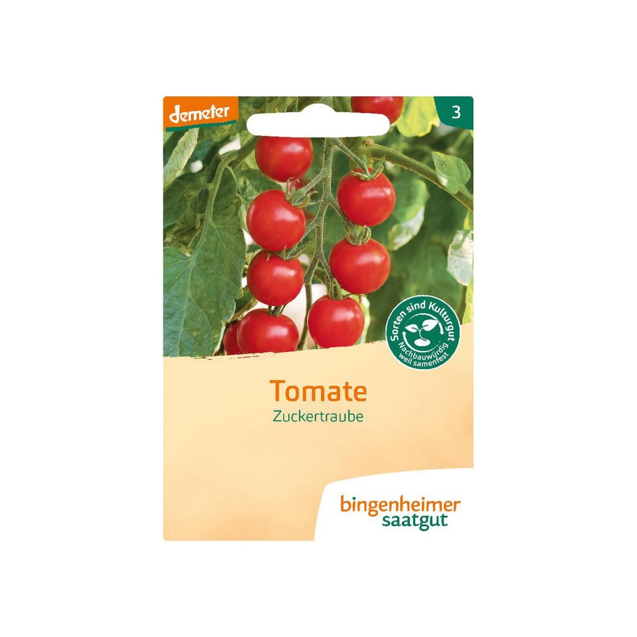 Bingenheimer Tomate (Cocktailtomate) Zuckertraube Bio-Samen