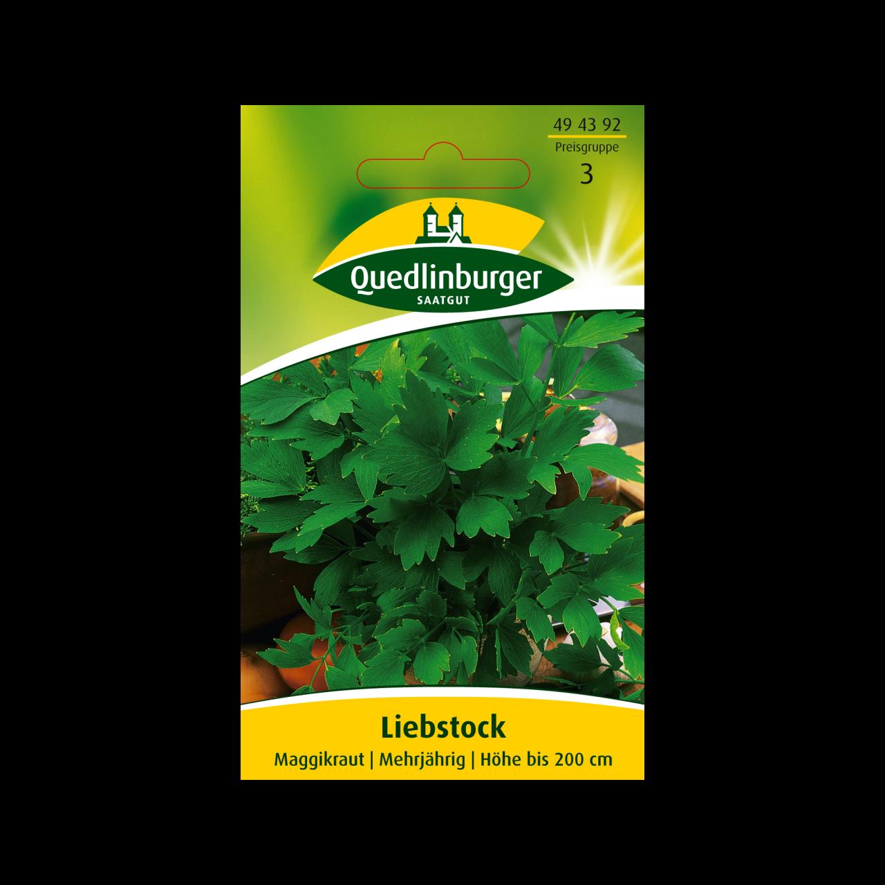 Liebstock Samen Quedlinburger Saatgut Vorderseite