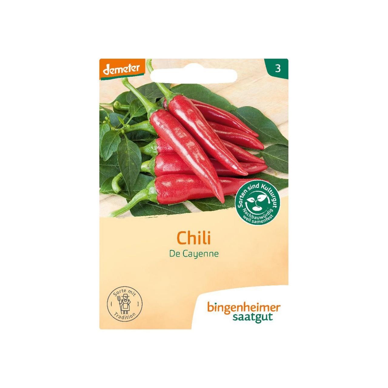 Bingenheimer Peperoni De Cayenne Bio-Samen