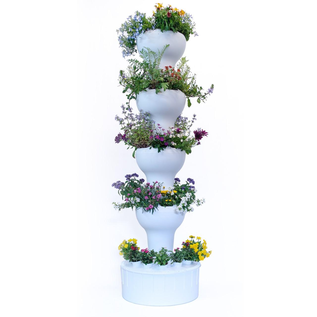 Blumenssaeule 40 Hydrokultur Bienenzapfsäule