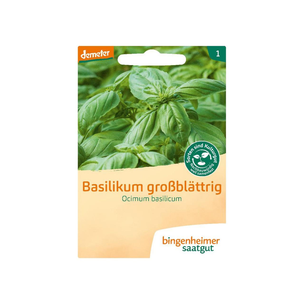 Bingenheimer Bio-Saatgut Basilikum