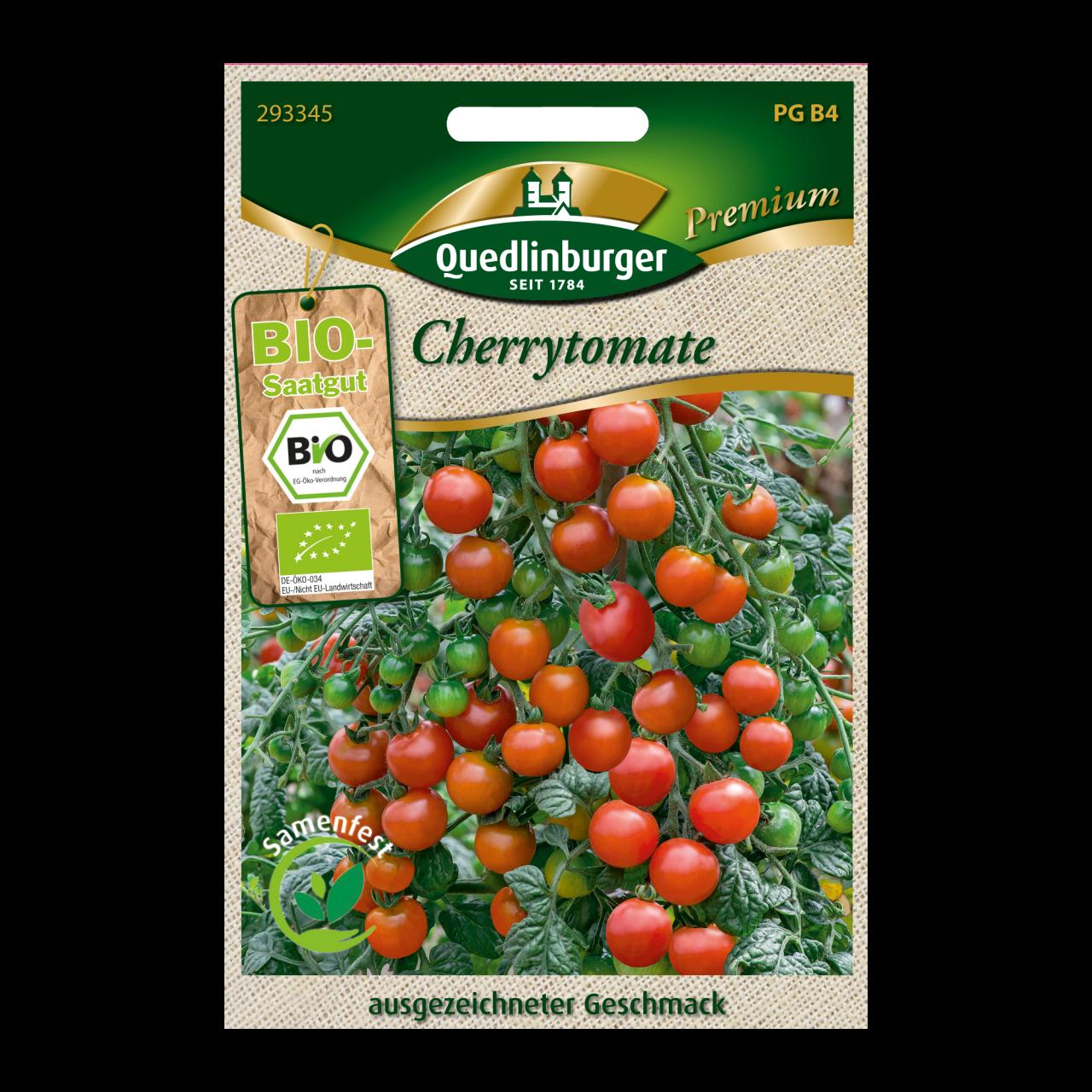 Quedlinburger Saatgut Cherrytomate Vorderseite