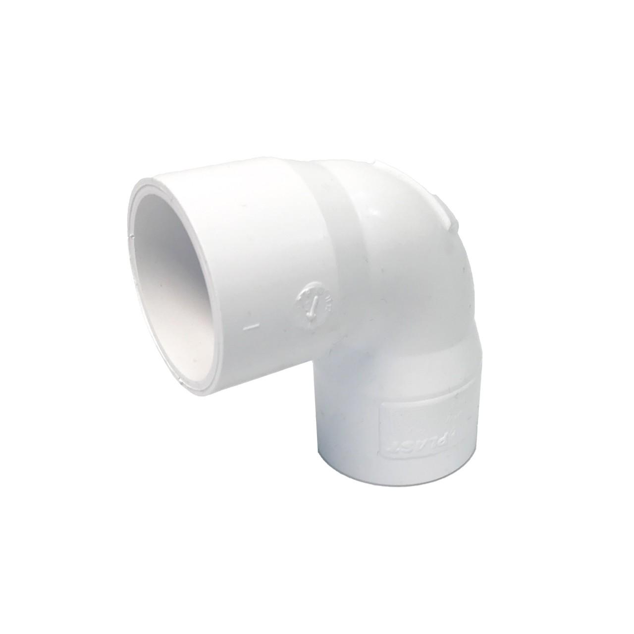 PVC-U Bogen weiß - zweifach Klebemuffe 32 mm