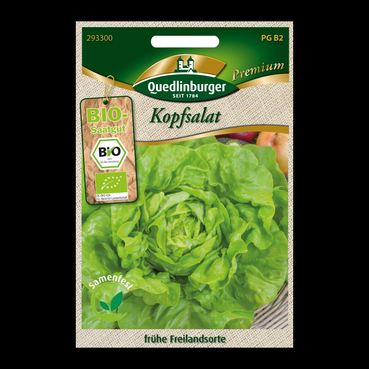 Quedlinburger Saatgut Kopfsalat Vorderseite