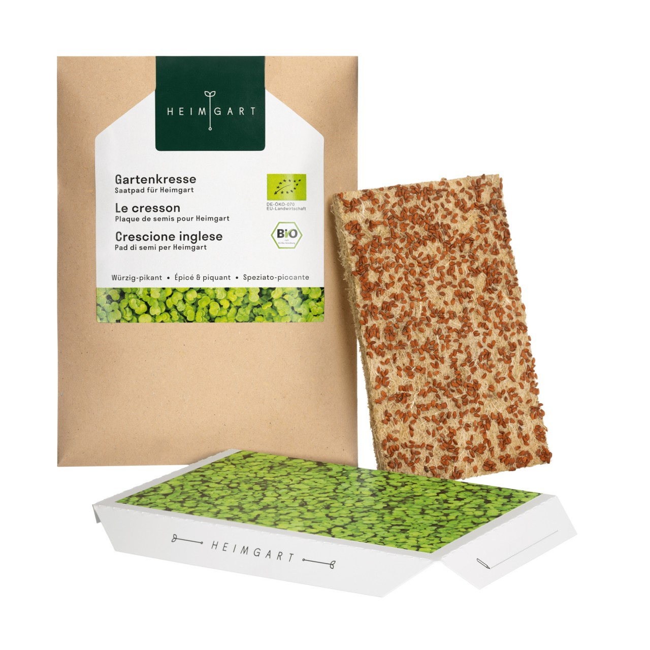 Microgreens Heimgart Bio Saatpad Gartenkresse