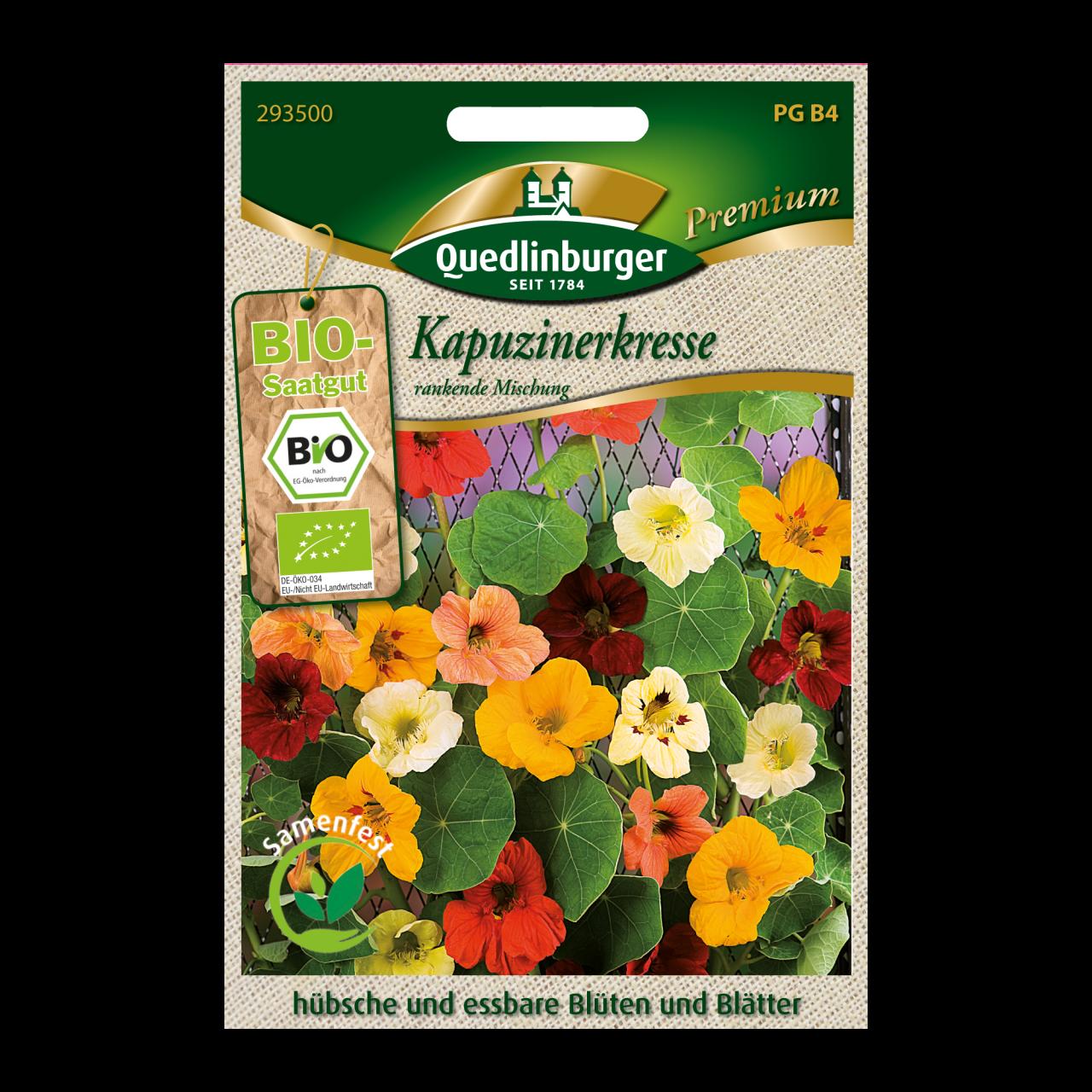 Quedlinburger Saatgut Kapuzinerkresse Vorderseite