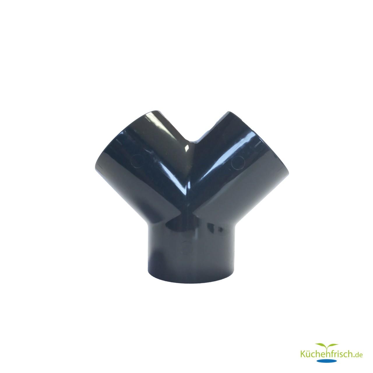PVC-U Y-Stück 3fach Klebemuffe 50 mm