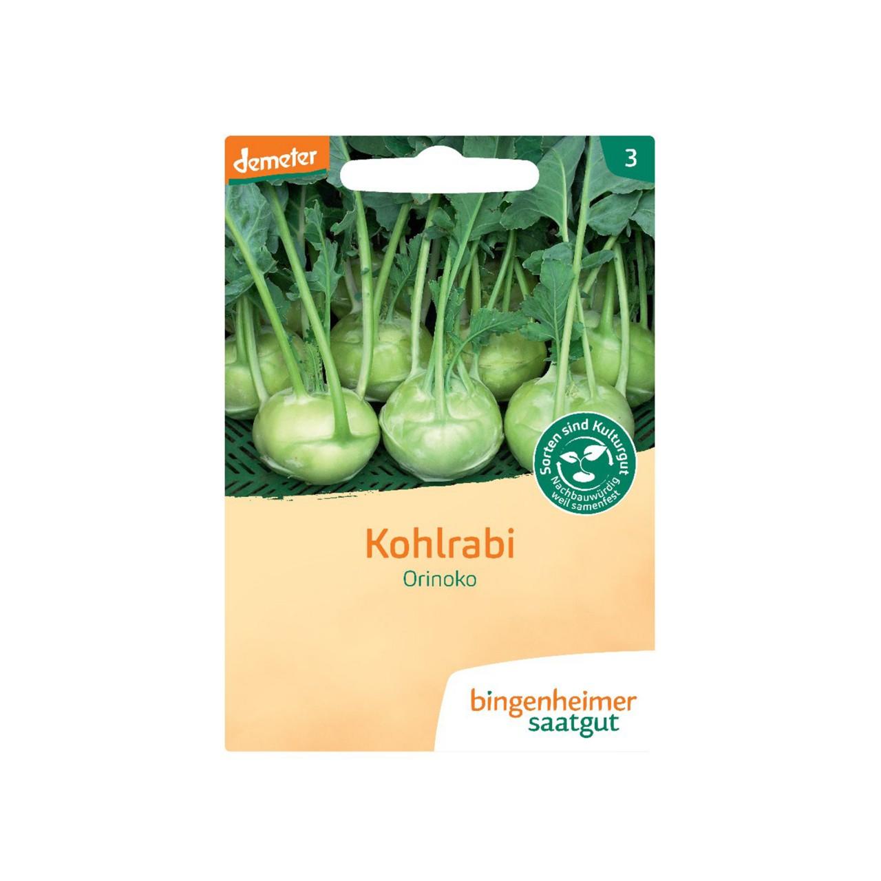 Bingenheimer Saatgut Kohlrabi Bio-Samen
