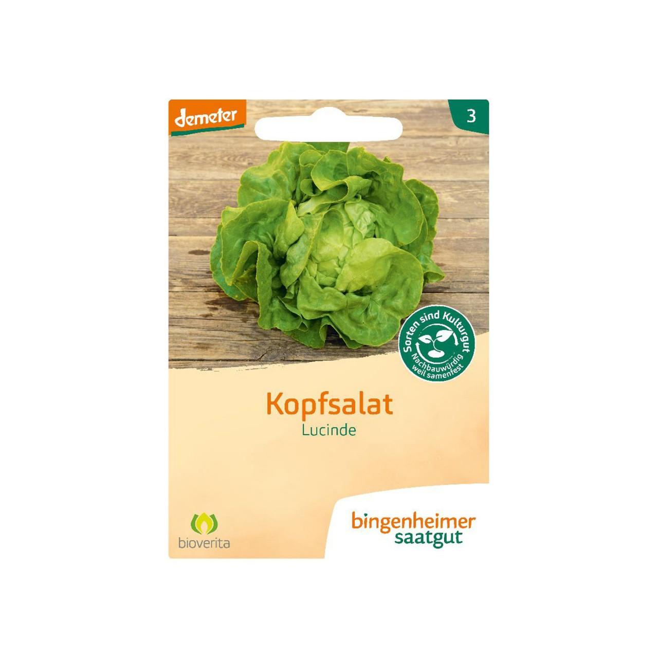Bingenheimer Kopfsalat Lucinde - Bio-Saatgut